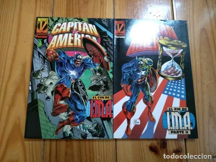 CAPITÁN AMÉRICA - EL FIN DE I.M.A. - COMPLETA EN 2 TOMOS - PERFECTO ESTADO (Tebeos y Comics - Forum - Capitán América)