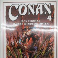Cómics: CONAN - BARRY WINDSOR SMITH - ROY THOMAS Nº 4 - FORUM -TAPA DURA CON SOBRECUBIERTAS. Lote 140686326