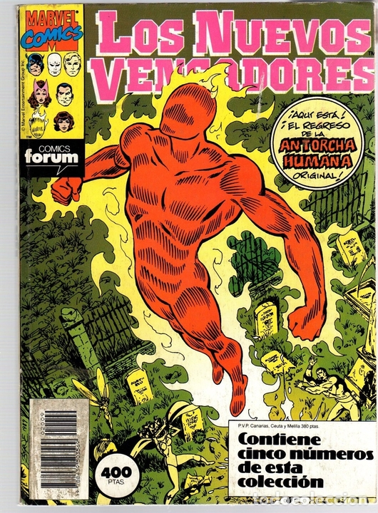 LOS NUEVOS VENGADORES. NUM. 46-47-48-49-50. FORUM, PLANETA, 1990 (Tebeos y Comics - Forum - Retapados)