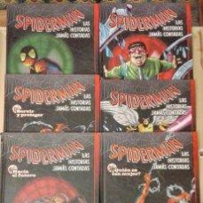 Cómics: SPIDERMAN-LAS HISTORIAS JAMÁS CONTADAS.6 TOMOS COLECCIÓN COMPLETA.. Lote 140801310