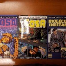 Cómics: ICONOS LOS 4 FANTÁSTICOS: FERIA DE MONSTRUOS, CAE LA NOCHE SOBRE YANCY STREET Y MOLÉCULAS INESTABLES. Lote 142140246