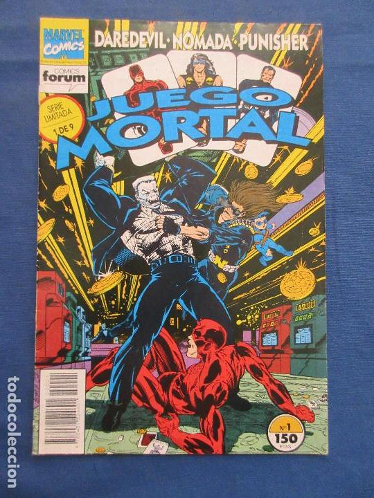 Cómics: MARVEL / DAREDEVIL · NÓMADA · PUNISHER - JUEGO MORTAL N.º 1 de 9 SERIE LIMITADA FORUM 1993 - Foto 1 - 142509774