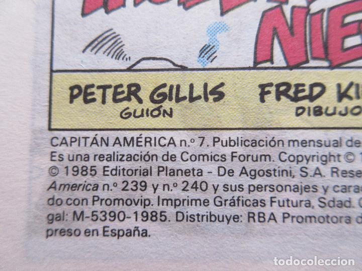 Cómics: CAPITÁN AMÉRICA N.º 7 VOLUMEN 1 FORUM 1985 Vol. I - DEFECTUOSO - Foto 2 - 142849754