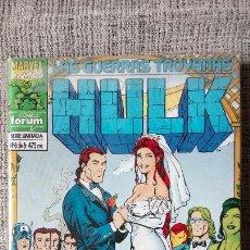 Cómics: HULK LAS GUERRAS TROYANAS COMPLETA COMICS FORUM. Lote 142930462
