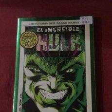 Cómics: SAGAS MARVEL EL INCREÍBLE HULK MUY BUEN ESTADO REF.812. Lote 142938038