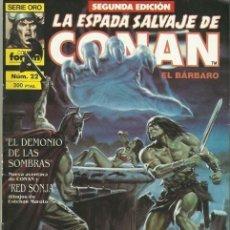 Cómics: LA ESPADA SALVAJE DE CONAN #22, 2ª EDICIÓN. Lote 142945878
