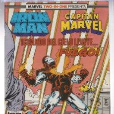 Cómics: IRON MAN CAPITAN MARVEL. CUANDO EL CIELO LLUEVE... FUEGO. Nº 49. FORUM. PLANETA, 1990. Lote 143306073