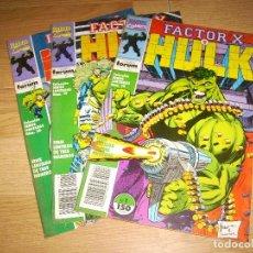 Cómics: FACTOR X Y HULK - COLECCION COMPLETA 3 NUMEROS. Lote 143315894