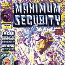 Cómics: MAXIMUM SECURITY 1 AL 4 COMPLETA. Lote 143568958