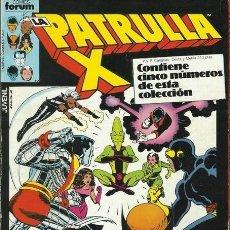 Cómics: PATRULLA X 1ª EDICION FORUM RETAPADO CON 5 NUMEROS (32,33,34,35,36). Lote 143658218