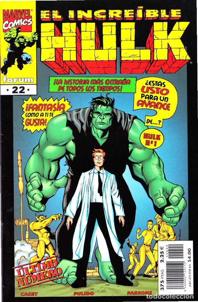 Cómics: EL INCREIBLE HULK VOL 3. 1 AL 22. COMPLETA. 1998 A 2000 FORUM PLANETA - Foto 22 - 143895058