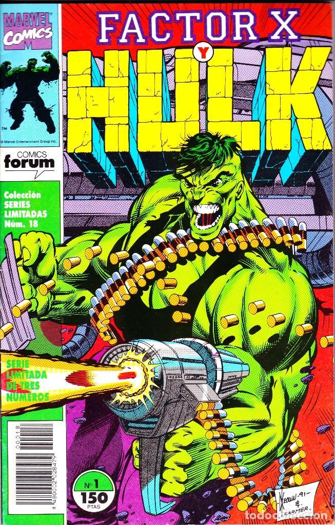 FACTOR X Y HULK. SERIE LIMITADA DE 3. COMPLETA. 1992 PLANETA (Tebeos y Comics - Forum - Hulk)