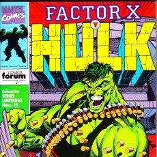 Cómics: FACTOR X Y HULK. SERIE LIMITADA DE 3. COMPLETA. 1992 PLANETA. Lote 143895382