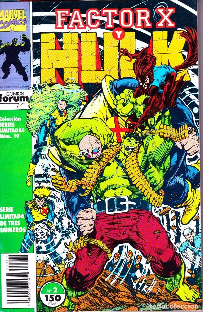 Cómics: FACTOR X Y HULK. SERIE LIMITADA DE 3. COMPLETA. 1992 PLANETA - Foto 2 - 143895382