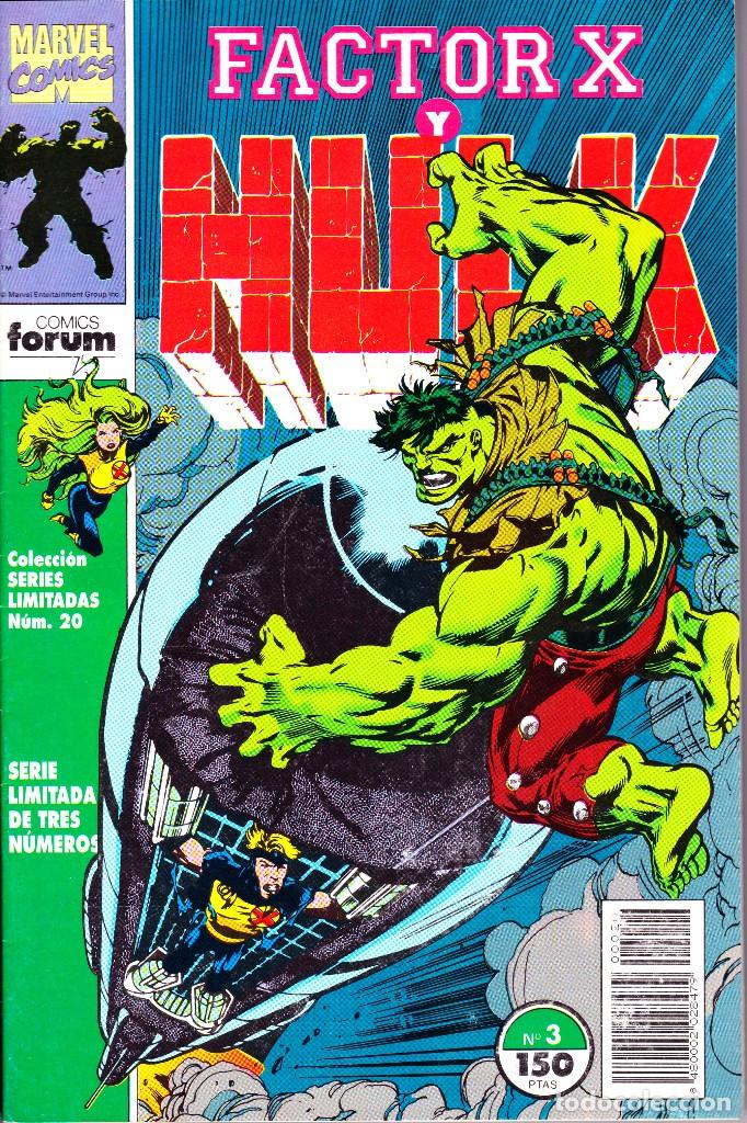 Cómics: FACTOR X Y HULK. SERIE LIMITADA DE 3. COMPLETA. 1992 PLANETA - Foto 3 - 143895382