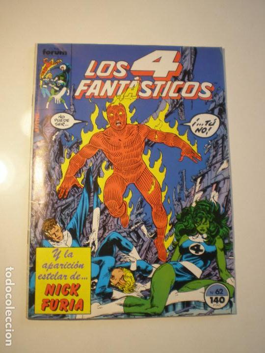 LOS 4 FANTASTICOS - Nº 62- FORUM 1986 // JOHN BYRNE MARVEL GRAPA STAN LEE (Tebeos y Comics - Forum - 4 Fantásticos)