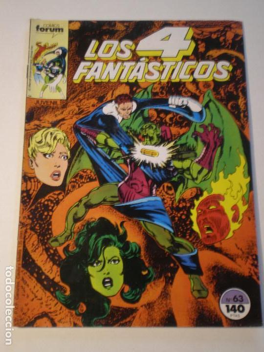 LOS 4 FANTASTICOS - Nº 63- FORUM 1986 // JOHN BYRNE MARVEL GRAPA STAN LEE (Tebeos y Comics - Forum - 4 Fantásticos)