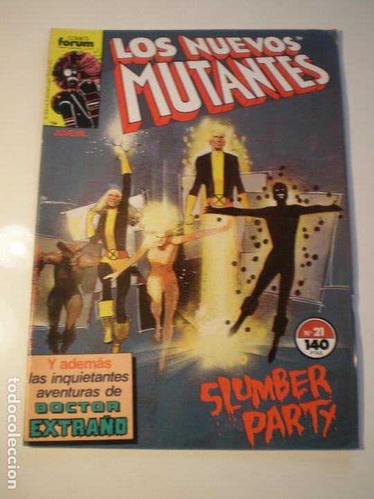 LOS NUEVOS MUTANTES - Nº 21 - FORUM 1987 // BILL SIENKIEWICZ CHRIS CLAREMONT MARVEL GRAPA STAN LEE (Tebeos y Comics - Forum - Nuevos Mutantes)