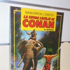 Cómics: LA ESPADA SALVAJE DE CONAN ALBUM ESPECIAL Nº 26 CON LOS Nº 119-120-121 - FORUM. Lote 144079606