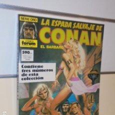 Cómics: LA ESPADA SALVAJE DE CONAN Nº 80-81-82 EN UN TOMO RETAPADO - FORUM. Lote 144080070