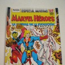 Cómics: MARVEL HEROES - ESPECIAL INVIERNO - LA GUERRA DE LA EVOLUCION - FORUM 1988 // SILVER SURFER IKARIS. Lote 144105142