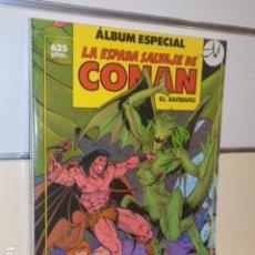 Cómics: LA ESPADA SALVAJE DE CONAN ALBUM ESPECIAL CON LOS Nº 74-75-76 - FORUM. Lote 144132022