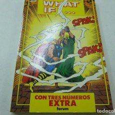 Comics : ALBUM ESPECIAL WHAT IF. TRES NUMEROS EXTRA. FORUM.-N. Lote 145054002