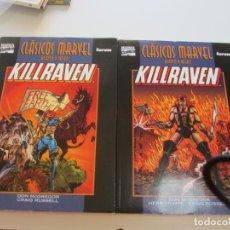 Cómics: KILLRAVEN CLASICOS BLANCO Y NEGRO COLECCION COMPLETA 2 TOMOS MUY BUEN ESTADO VSD01. Lote 145225674