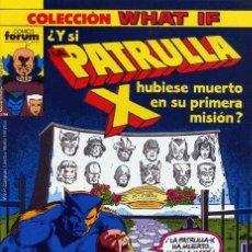 Cómics: WHAT IF VOL.1 Nº17 - ¿Y SI LA PATRULLA-X HUBIESE MUERTO EN SU PRIMERA MISIÓN? - FORUM. Lote 205470667