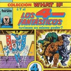 Comics: WHAT IF VOL.1 Nº19 - ¿Y SI LOS 4 FANTASTICOS TUVIESEN UN MISMO PODER? - FORUM. Lote 145312526
