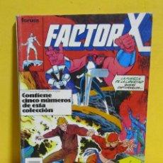 Cómics: FACTOR X CAPITAN COMICS FORUM RETAPADO CONTIENE DEL Nº 6 AL Nº 10 AÑOS 80. Lote 145456186