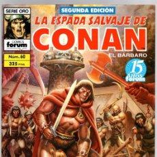 Comics : LA ESPADA SALVAJE DE CONAN EL BARBARO. SERIE ORO. SEGUNDA EDICION. NUM. 60 Y 91. FORUM, PLANETA. Lote 146100109