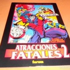 Cómics: PATRULLA X . ATRACCIONES FATALES Nº 2 . OBRAS MAESTRAS Nº 30. RUSTICA. BUEN ESTADO.. Lote 146279294
