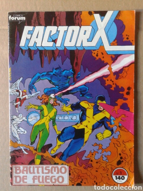 FACTOR-X N°1 (COMICS FORUM, 1988). 'BAUTISMO DE FUEGO'. 36 PÁGINAS A COLOR. POR LAYTON Y GUICE (Tebeos y Comics - Forum - Factor X)