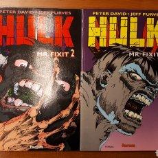 Cómics: HULK MR FIXIT 1 Y 2 COMPLETA - PETER DAVID · JEFF PURVES. Lote 146550698