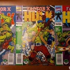 Cómics: FACTOR X Y HULK 1 AL 3, COMPLETA. Lote 146552558