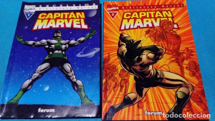 MARVEL COMICS: EXCELSIOR FORUM CAPITÁN MARVEL Nº 1 Y 2 (Tebeos y Comics - Forum - Capitán América)