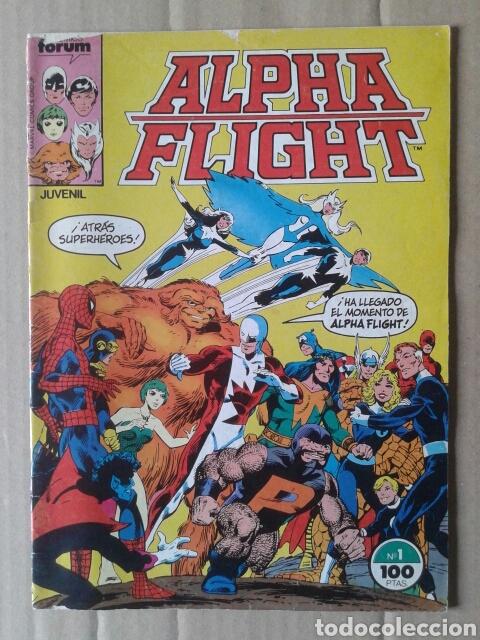 ALPHA FLIGHT N°1 (COMICS FORUM, 1985). 36 PÁGINAS A COLOR. POR JOHN BYRNE. (Tebeos y Comics - Forum - Alpha Flight)