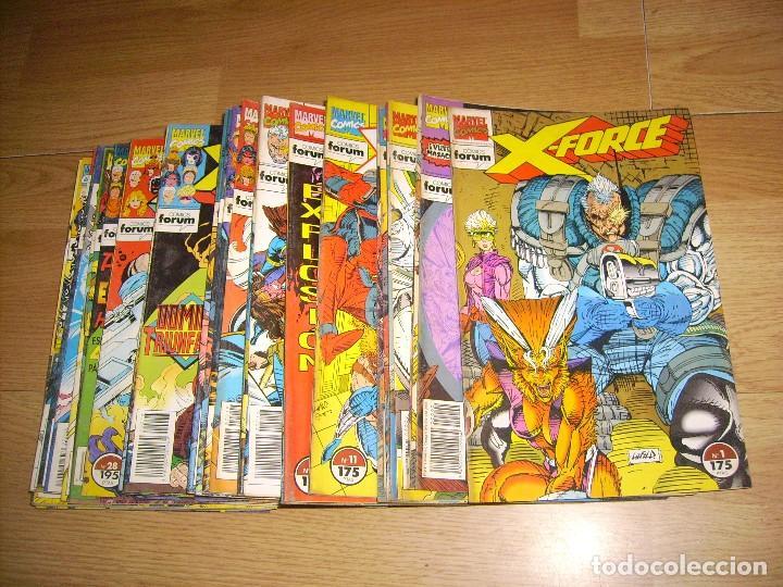 X FORCE - COLECCION CASI COMPLETA 41 / SOLO FALTA Nº 4 / + 2 NUMEROS DE THE NEW WARRIORS (Comics und Tebeos - Forum - Andere Forum)