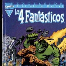 Cómics: LOTE CON LOS 5 PRIMEROS NÚMEROS DE LA BIBLIOTECA MARVEL EXCELSIOR DE LOS 4 FANTÁSTICOS. Lote 147248566