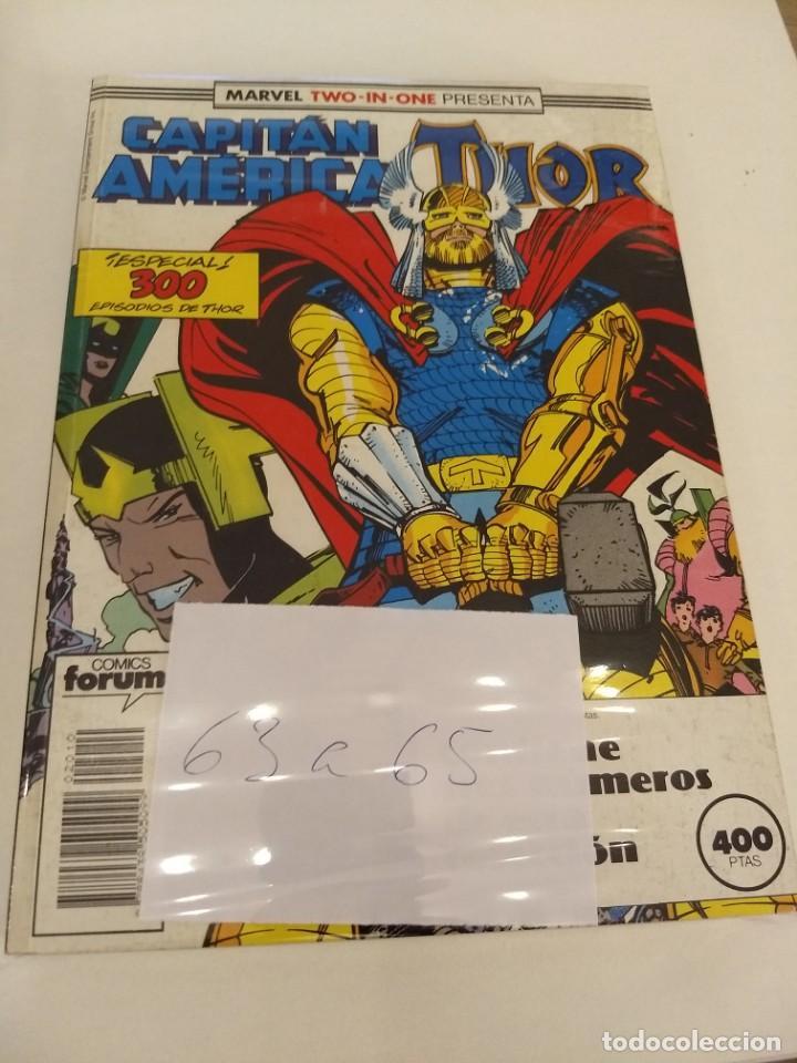 CAPITAN AMERICA - THOR VOL.1. NUMS. 63-64-65 (Tebeos y Comics - Forum - Retapados)