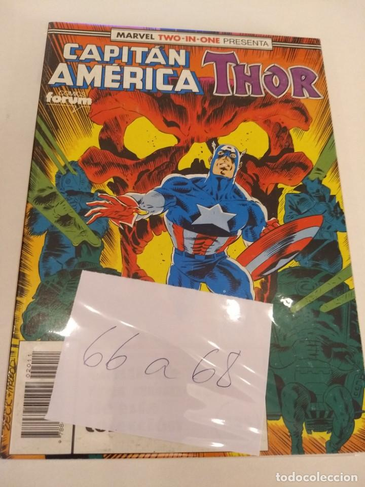 CAPITAN AMERICA - THOR VOL.1. NUMS. 66-67-68 (Tebeos y Comics - Forum - Retapados)