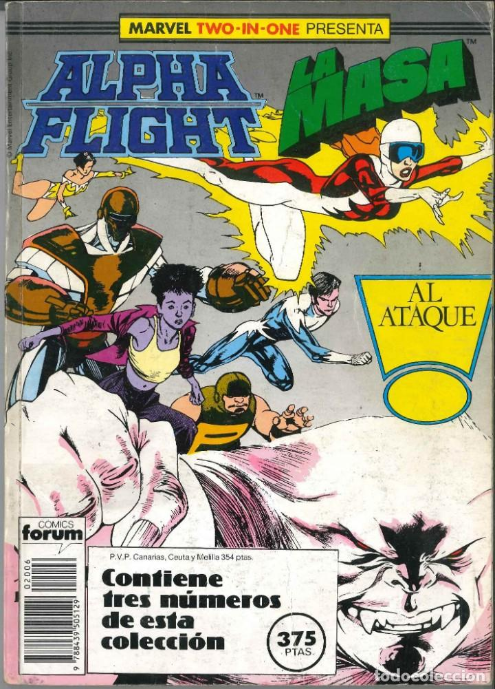 ALPHA FLIGHT LA MASA RETAPADO NÚMEROS 42-44-45 CÓMICS FÓRUM MARVEL (Tebeos y Comics - Forum - Alpha Flight)