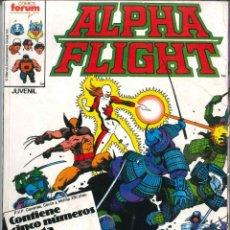 Cómics: ALPHA FLIGHT RETAPADO NÚMEROS 32-33-34-35 CÓMICS FÓRUM MARVEL. Lote 147499622