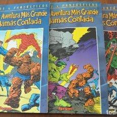 Cómics: LOS 4 FANTASTICOS LA AVENTURA MAS GRANDE JAMAS CONTADA COMPLETA. Lote 147573894
