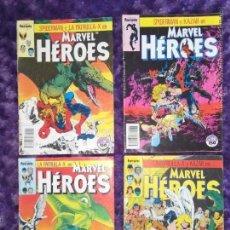 Cómics: SPIDERMAN PATRULLA X TIERRA SALVAJE (MARVEL HEROES 31 A 34 - SAGA COMPLETA) FORUM.. Lote 147585822