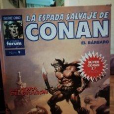 Cómics: LA ESPADA SALVAJE DE CONAN EL BARBARO SUPER CONAN TOMO 9. Lote 147893830