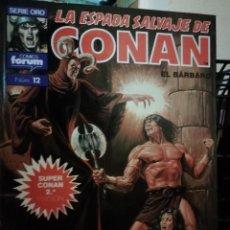 Cómics: LA ESPADA SALVAJE DE CONAN EL BARBARO SUPER CONAN TOMO 12. Lote 147893958