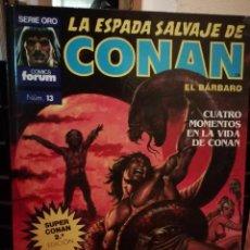 Cómics: LA ESPADA SALVAJE DE CONAN EL BARBARO SUPER CONAN TOMO 13. Lote 147894030