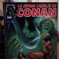 Cómics: LA ESPADA SALVAJE DE CONAN EL BARBARO SUPER CONAN TOMO 3. Lote 147894314